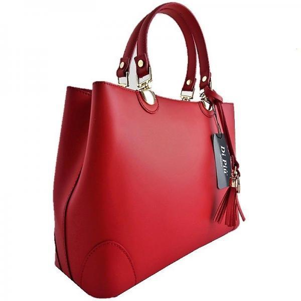 handbag de piel color rojo hecho en italia