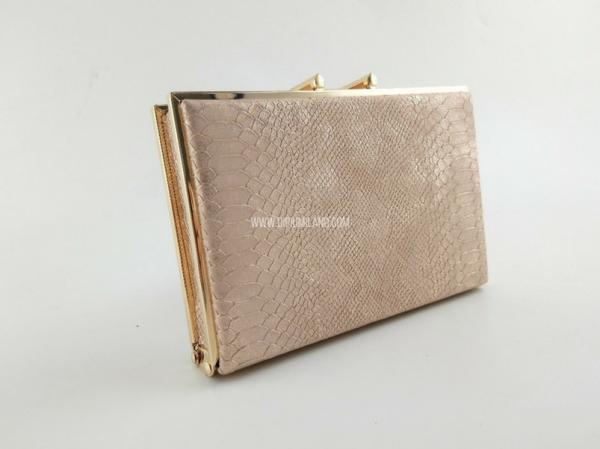 Pequeño bolso de fiesta dorado de Di Piu Milano